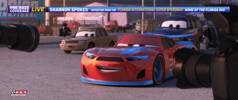 """Stu Scattershields, personnage dans """"Cars 3""""."""