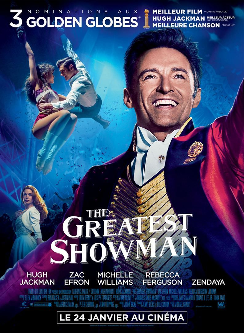 Affiche poster greatest showman disney fox