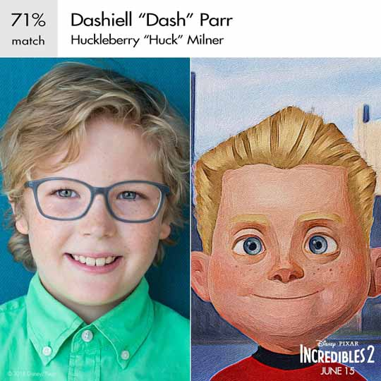 fleche dash parr personnage indestructible character incredibles 2 disney pixar