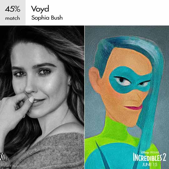 voyd personnage indestructible character incredibles 2 disney pixar