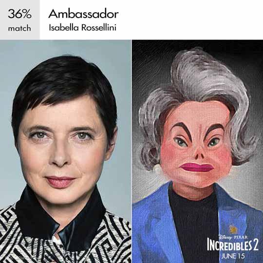 ambassadeur personnage indestructible character incredibles 2 disney pixar