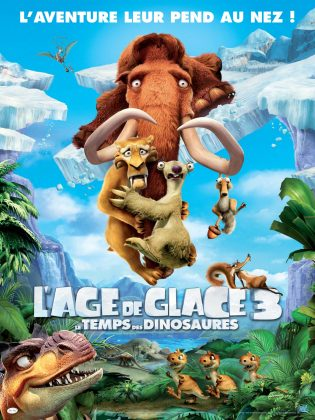 Affiche Poster age glace 3 temps dinosaurs ice dawn disney fox blue sky