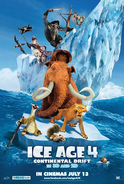 Affiche Poster age glace 4 derive continent ice drift disney fox blue sky