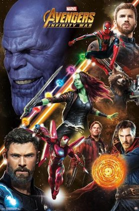 Affiche Poster Artwork Avengers infinity war disney marvel