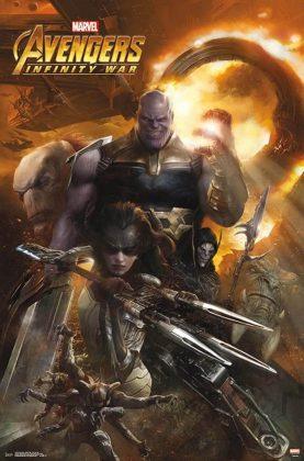 Affiche Poster Artwork Avengers infinity war disney marvel