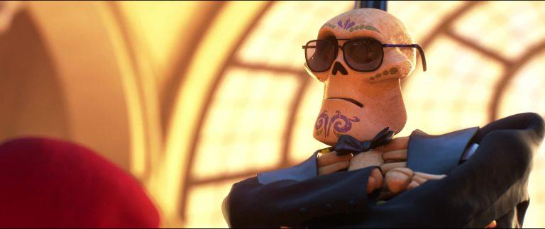 """L'agent de sécurité, personnage dans """"Coco""""."""