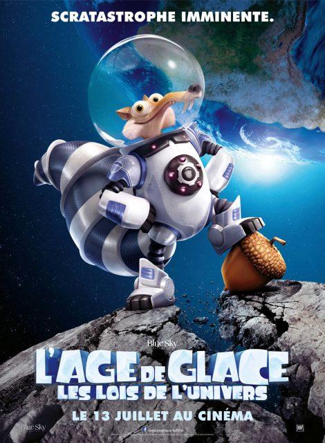 Affiche Poster Age glace 5 ice lois univers collision course disney blue sky fox