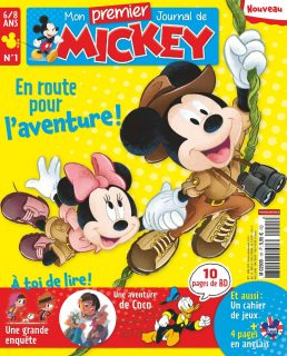 couverture magazine album premier journal mickey disney hachette