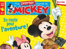 couverture magazine album premier journal mickey disney hachette