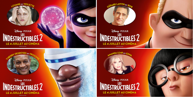 voix indestructibles 2 disney pixar