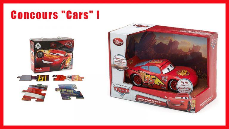 """Concours : gagnez des lots """"Cars""""."""