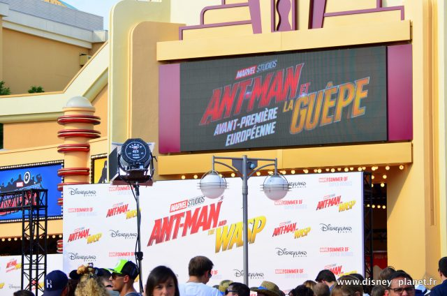 Ant-man et la guêpe and the wasp avant premiere européenne european Disneyland Paris