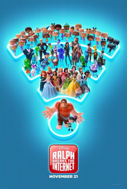 Affiche poster ralph 2 break internet disney