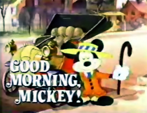 logo good morning mickey disney