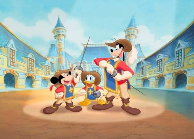 mickey trois three mousquetaires musketeers disney