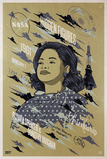 Affiche Poster figures ombre hidden disney 20th century fox