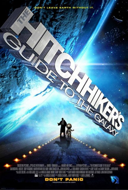 Affiche Poster h2g2 guide voyageur galactique hitchhiker galaxy disney touchstone