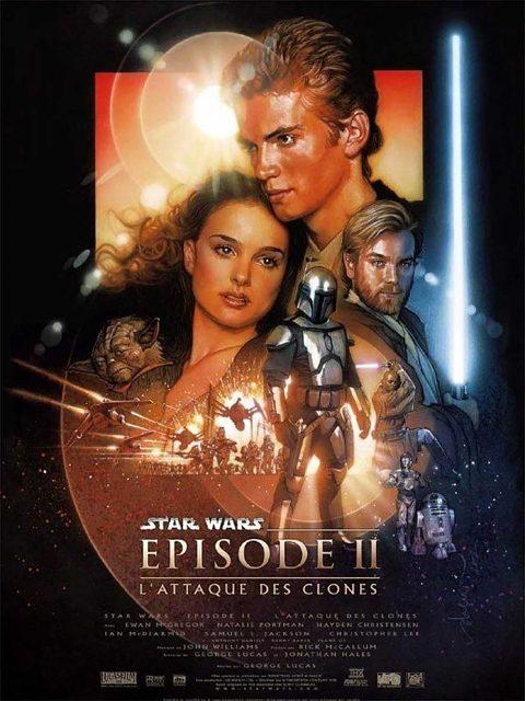 Affiche Poster star wars attaque attack clones disney lucasfilm