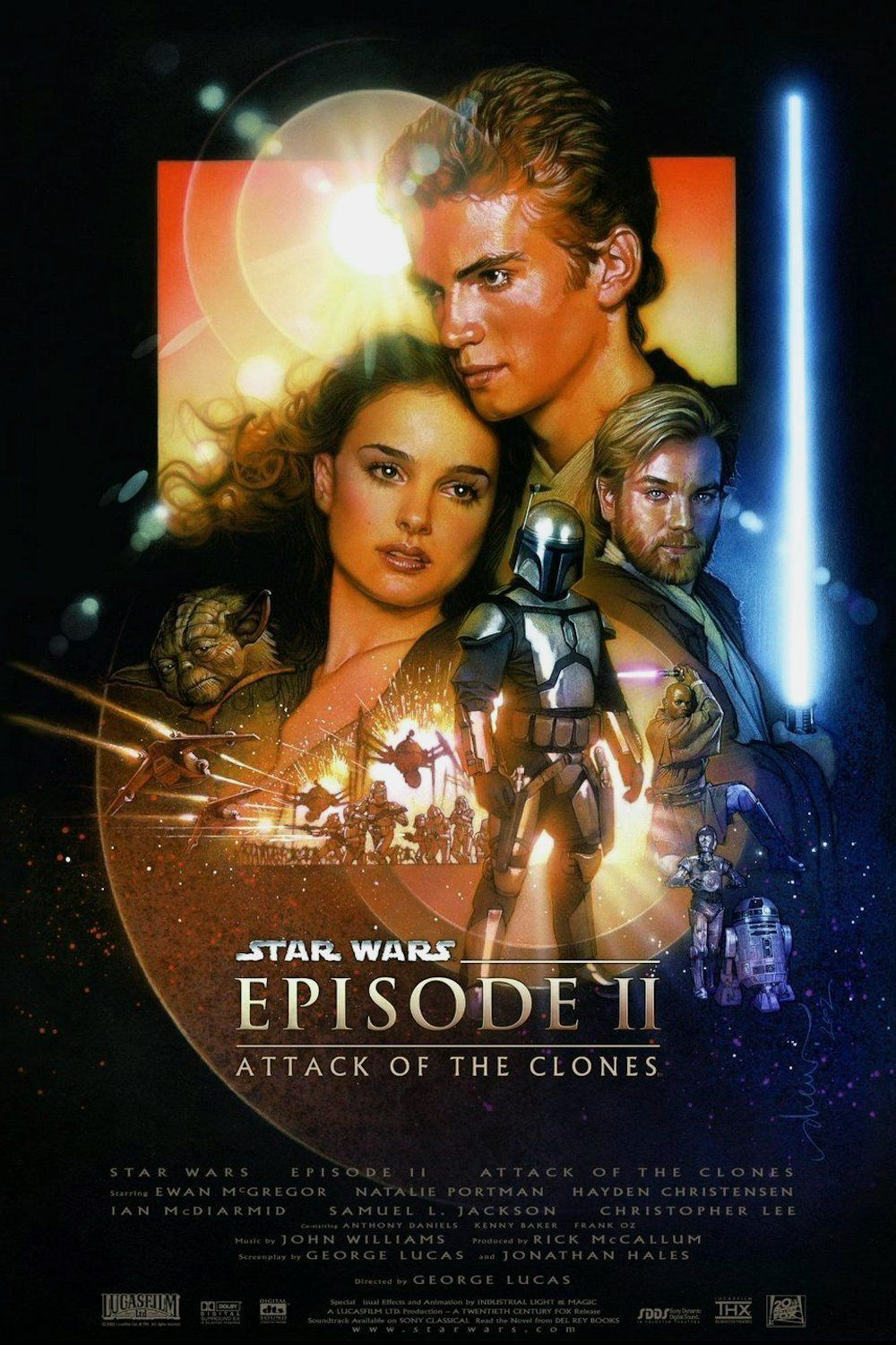 Affiche Poster star wars attaque attack clones disney lucasfilm