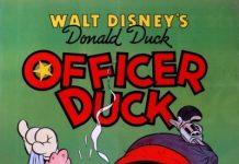 Affiche Poster agent canard officer duck donald disney