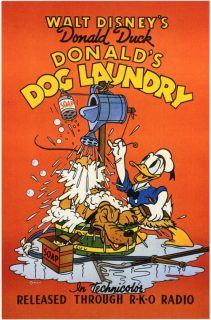 Affiche Poster blanchisserie Donald Dog Laundry disney