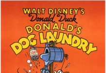 Affiche Poster blanchisserie Donald Dog Laundry disney