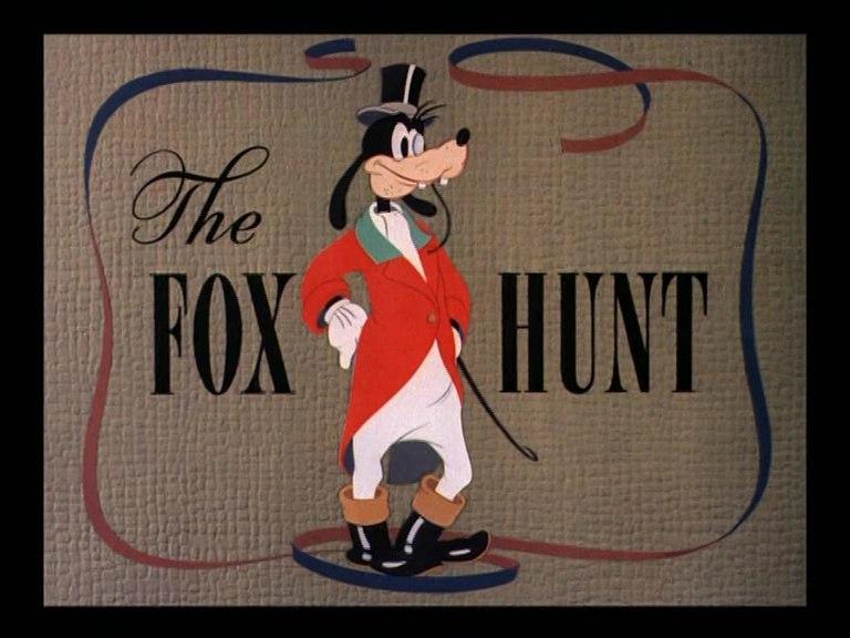 Affiche Poster chasse renard fox hunt donald dingo disney