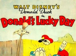 Affiche Poster donald chanceux lucky day disney