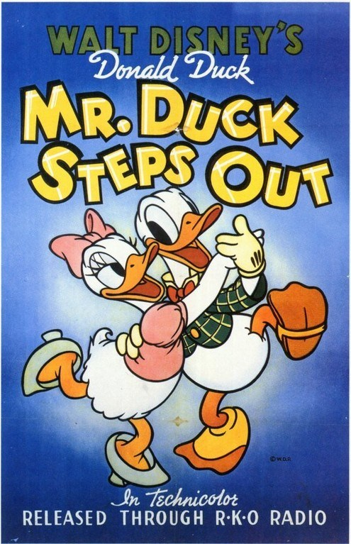 Affiche Poster entreprenant monsieur duck steps out disney donald