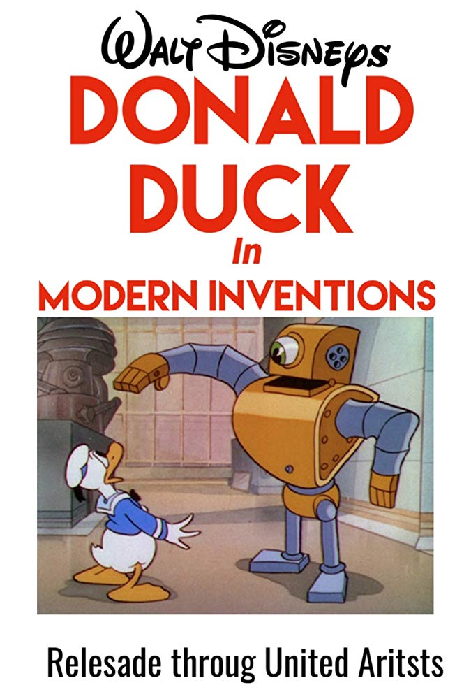 Affiche Poster inventions modernes disney donald