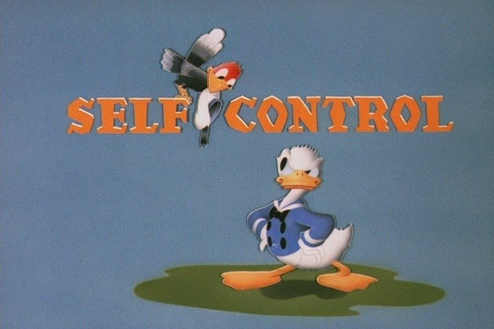 Affiche Poster sang froid self control donald disney