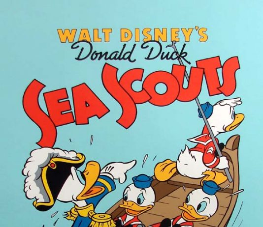 Affiche Poster scouts marins sea disney donald