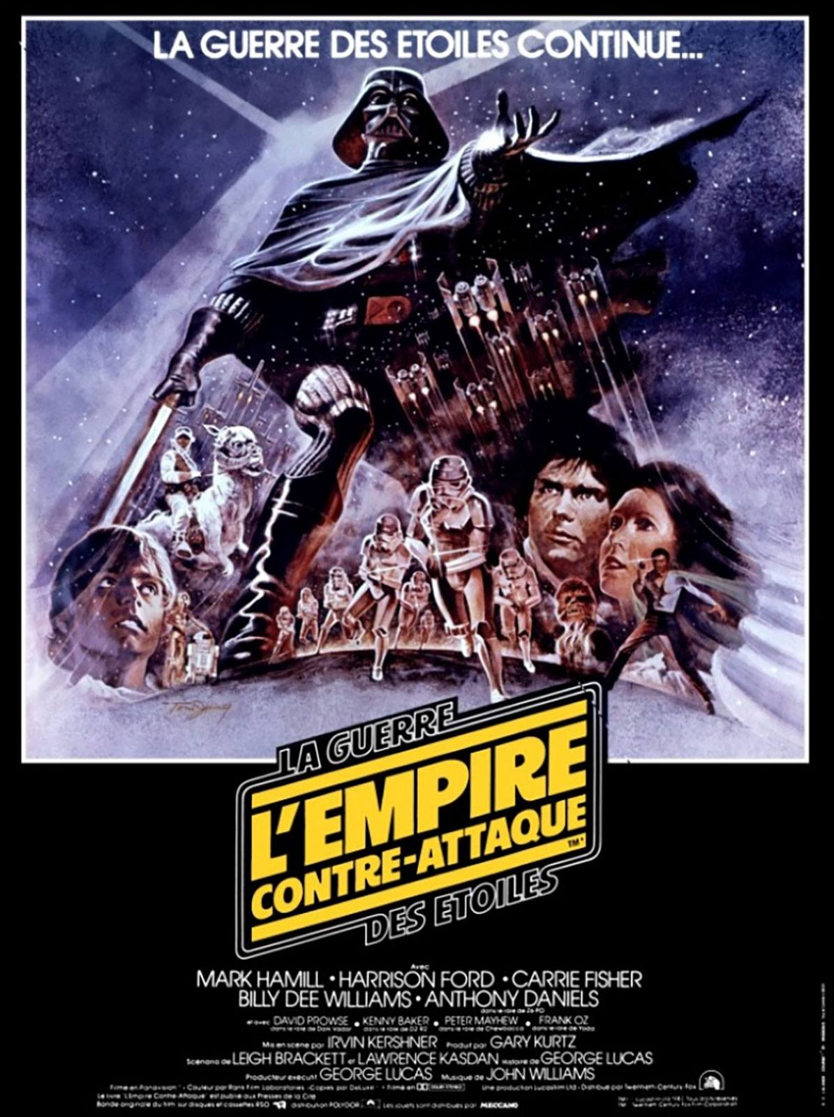 Affiche Poster star wars empire contre attaque strickes back disney lucasfilm