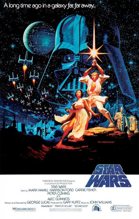 Affiche Poster star wars new hope guerre étoile disney lucasfilm