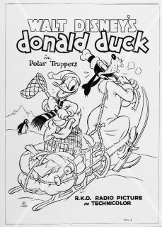 Affiche Poster trappeurs arctiques polar trappers disney donald