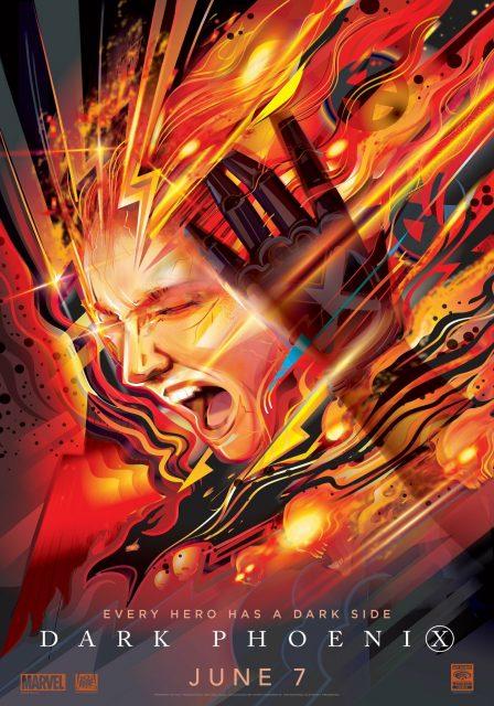 Affiche Poster x-men dark phoenix disney fox marvel