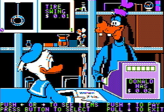 donald duck playground disney jeu video game