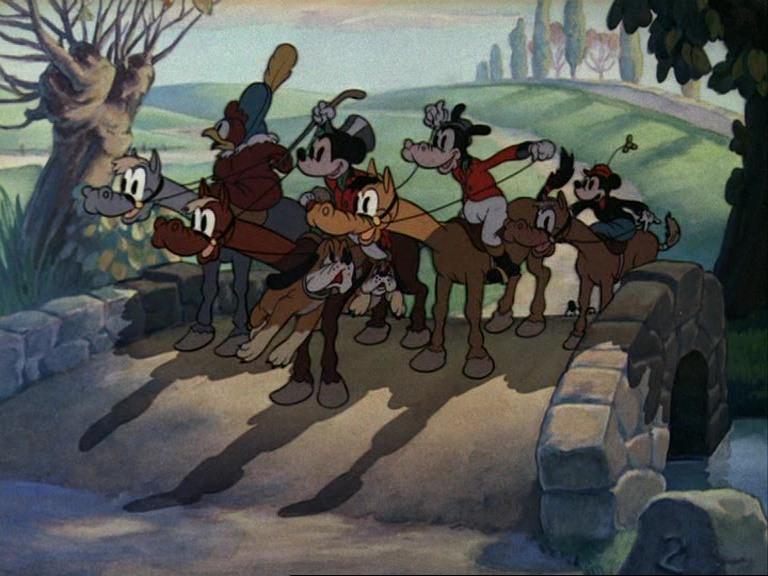 Image chasse renard fox hunt donald dingo disney