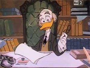 professeur foldingue donald Ludwig Von Duck disney