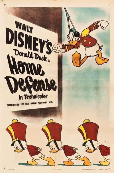 Affiche Poster attaque home defense donald disney