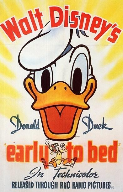 Affiche Poster bonne nuit donald earl bed disney
