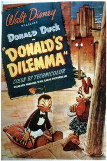 Affiche Poster dilemme dilemma donald disney