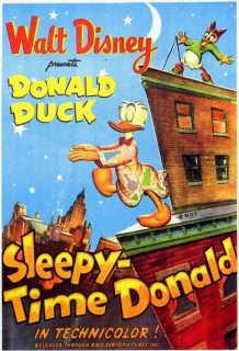 Affiche poster dodo donald sleepy time disney