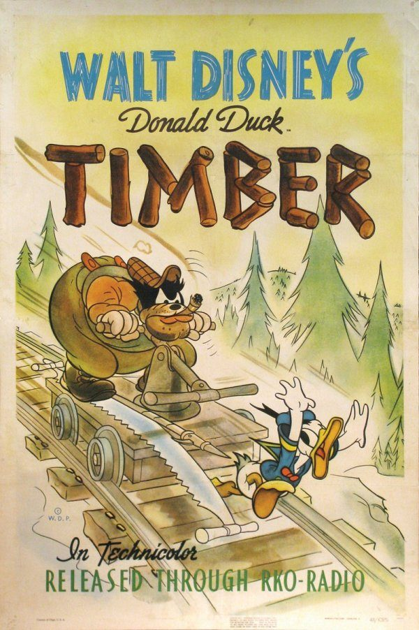 Affiche Poster donald bucheron timber disney