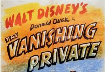 Affiche Poster donald camoufle vanishing private disney