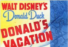 Affiche Poster donald camping vacation disney