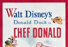 Affiche Poster donald cuistot chef disney