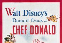 Affiche Poster donald cuistot chef disney