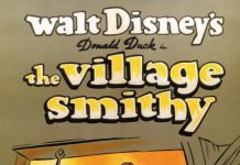 Affiche Poster donald forgeron village smithy disney