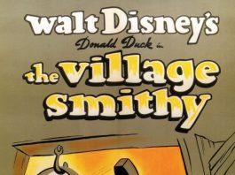Affiche Poster donald forgeron village smithy disney